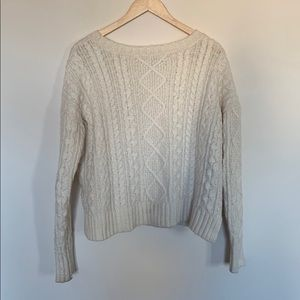 American Eagle Fisherman Cable Knit Sweater